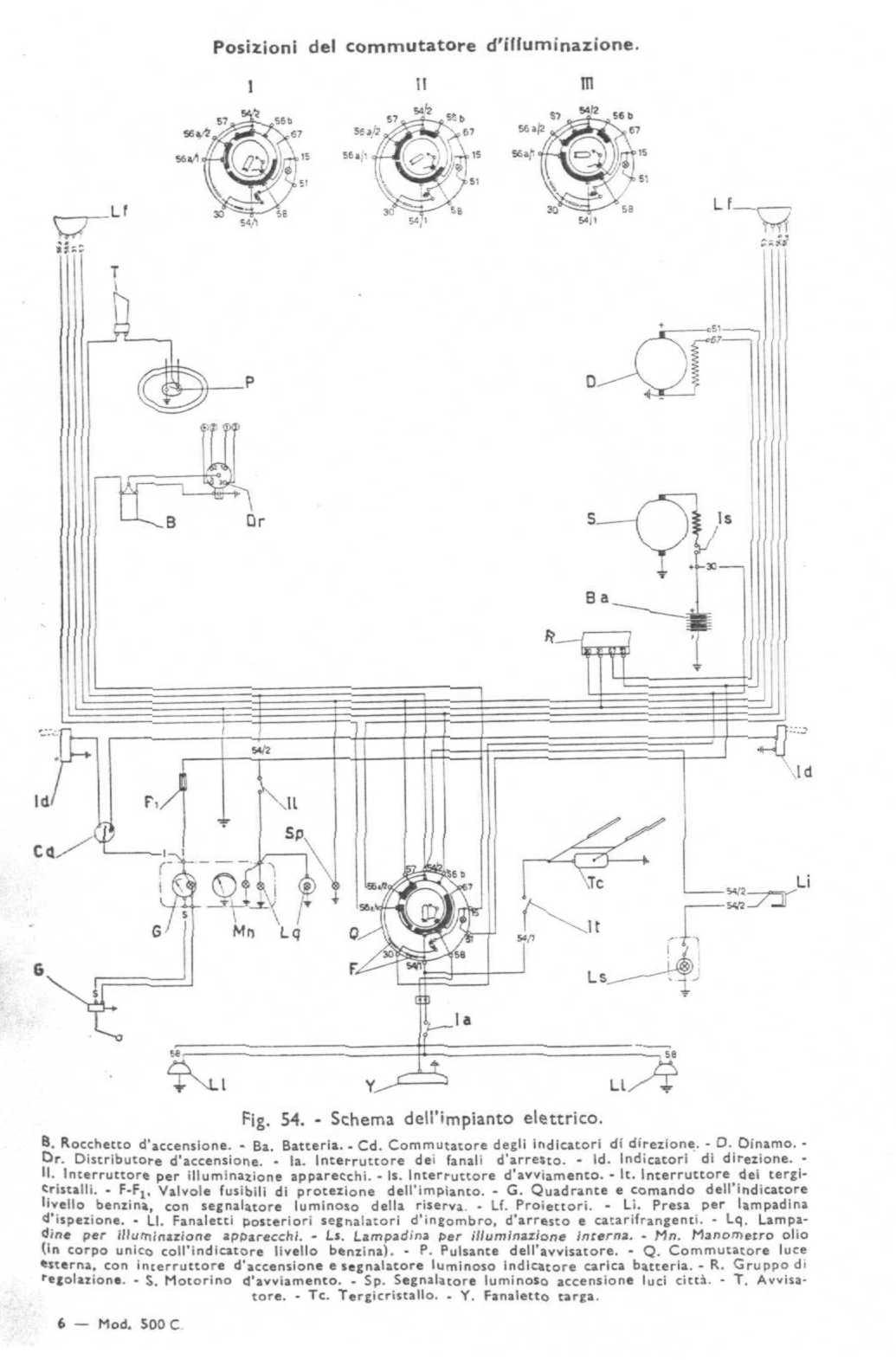 Schema Elettrico Fiat D : Schema elettrico fiat c topolino fare di una mosca